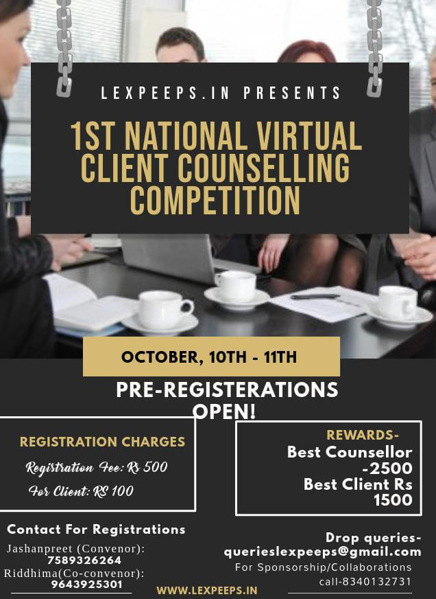 Lexpeeps- 1st National Virtual Client Counselling Competition