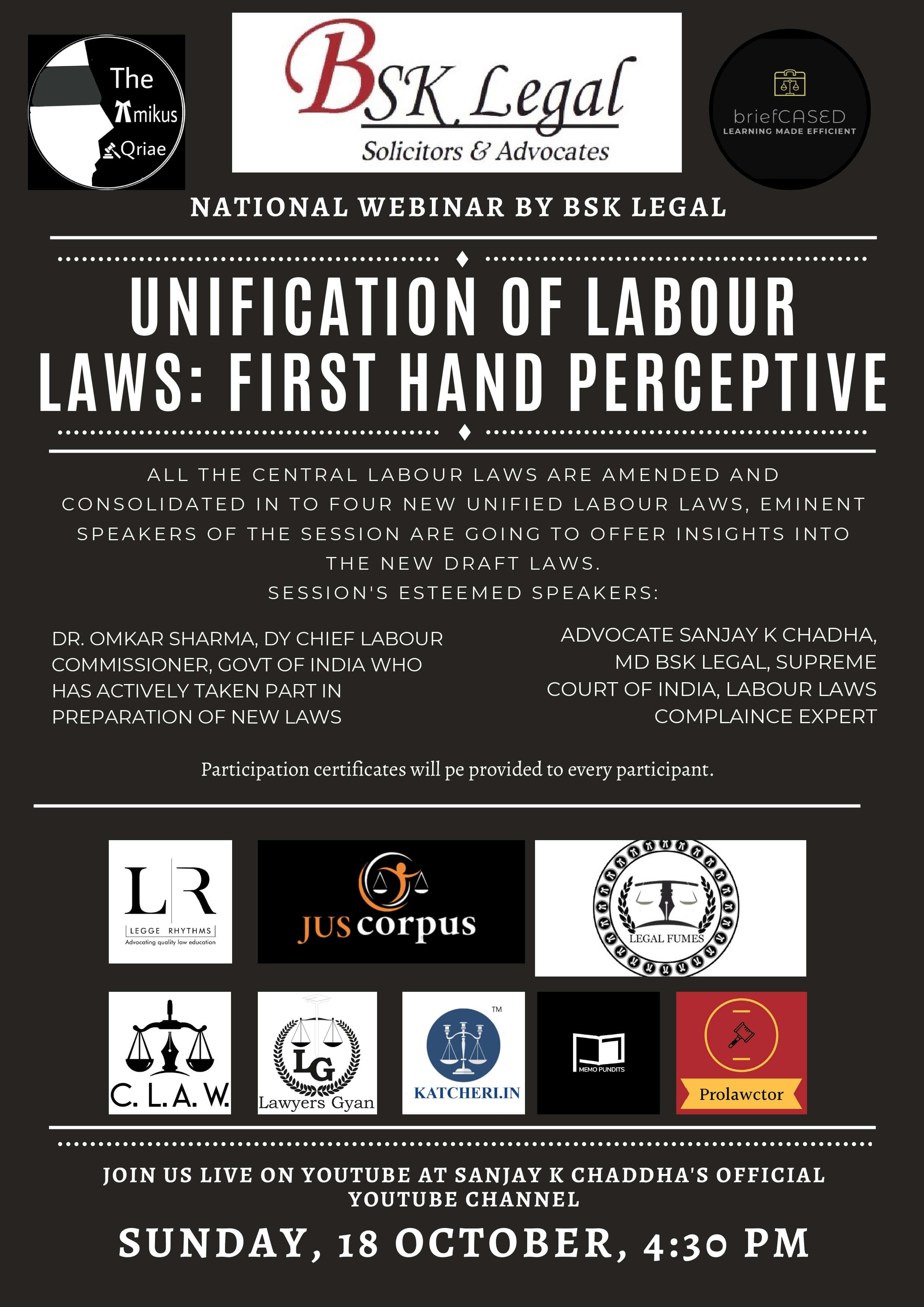 National Webinar on Unification of labour laws