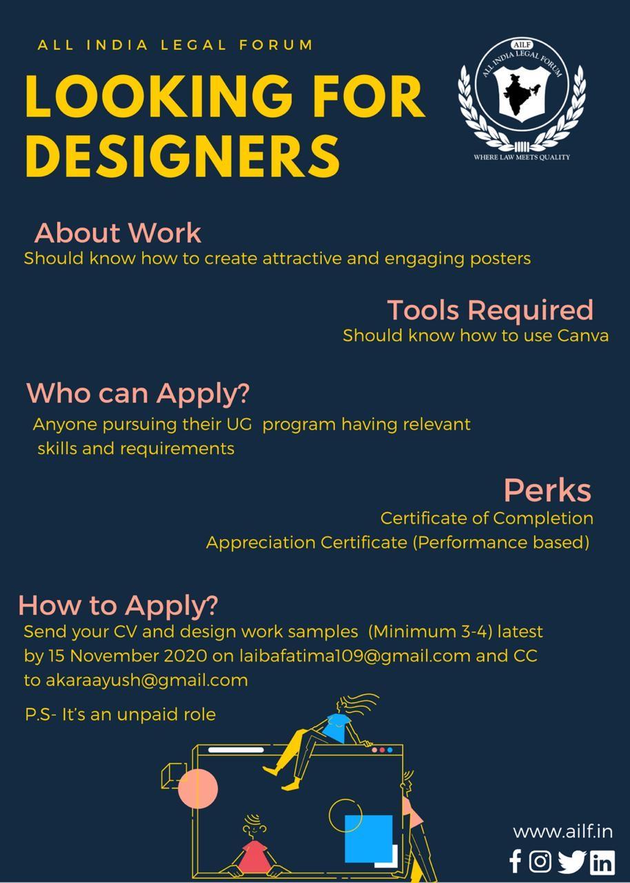 CALL FOR DESIGNERS