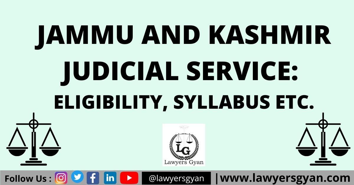 Jammu and Kashmir Judicial Service