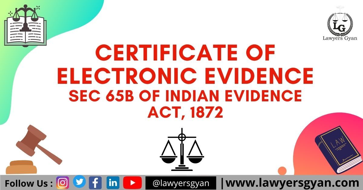 CERTIFICATE OF ELECTRONIC EVIDENCE