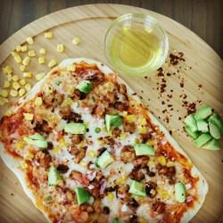 Mexican Chicken Taco Flatbread