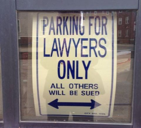 Is this a humorous sign or an annoying one? Photo credit: L. Tripoli