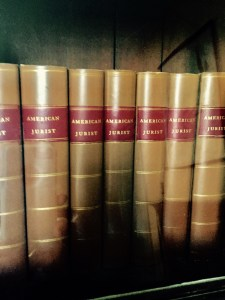 Old volumes of American Jurist on display at the law office of John McClellan at Old Sturbridge Village, Mass. Photo credit: L. Tripoli