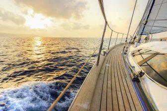 Sailing towards the sunset
