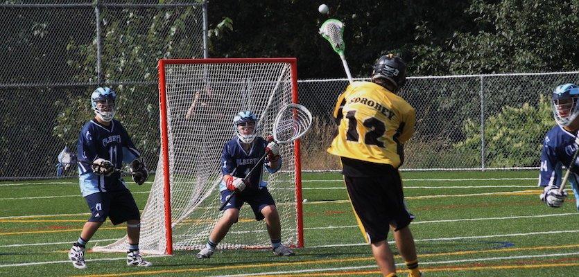 lacrosse goalie helmet throat protector