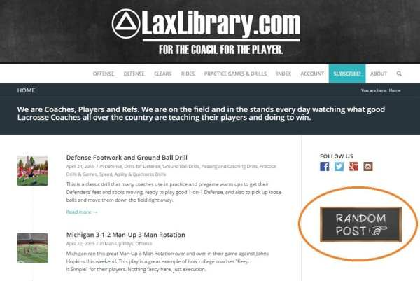 lacrosse library random practice drill play
