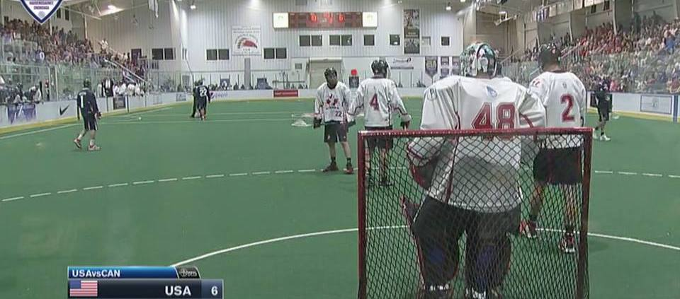 Canada vs USA world indoor lacrosse championships 2015