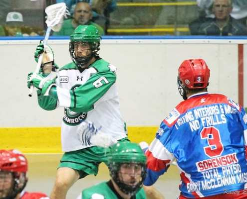 mann cup 2015 box lacrosse brooklin strong side rotation offense play