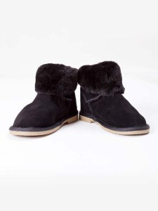 Ankle Boots Fur Black