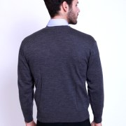 Basic V-Neck Sweater Charcoal