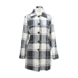 Women Plaid Overcoat