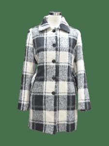 Women Plaid Overcoat