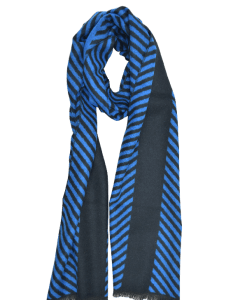 shawl-wool-mix-blue-stripe-125J