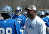 McCallie School head lacrosse coach Troy Kemp is pictured here.