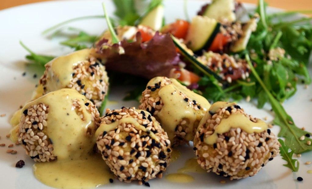 Falafel Rezept mit Currysauce