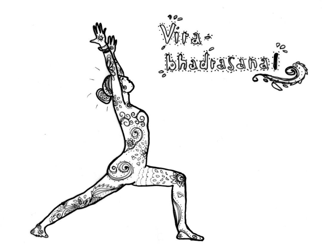 Dich dem Leben stellen in Virabhadrasana I