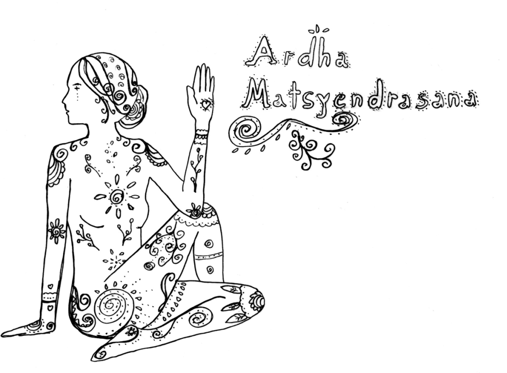 ARdha Matsyendrasana Yoga Drehsitz