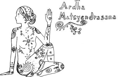 In dir ruhend und flexibel: Ardha Matsyendrasana