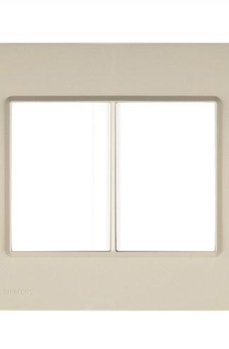 "Placa Cashmere (6 módulos) 4"" x 4"" - Delta Mondo (5TG9 862-1PA08) - SIEMENS"