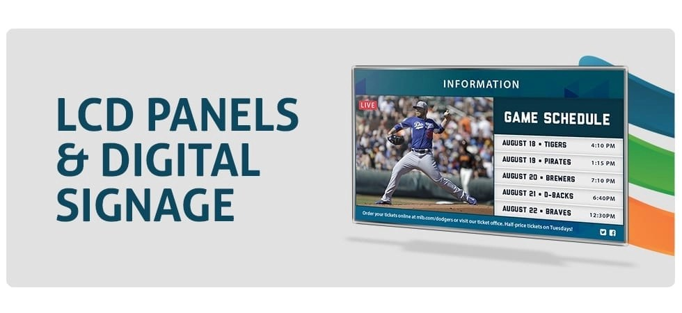 LCD Panels, Digital Signage, and Video PA Solutions from Layered Solutions