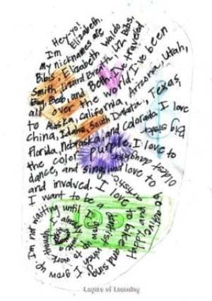 Do this fun art project , a thumbprint autobiography.