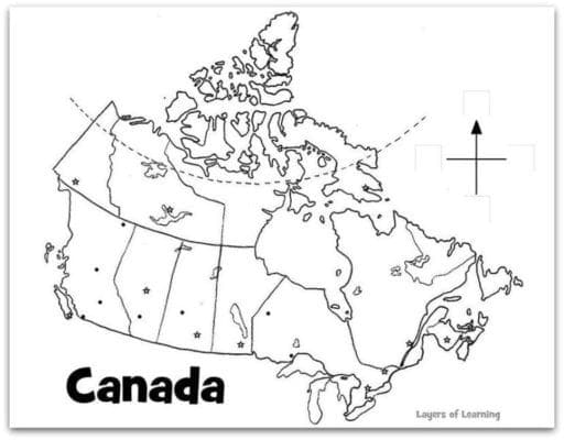 picture about Printable Map of Canada named Map Of Canada For Learners In direction of Label Map Of Backyard