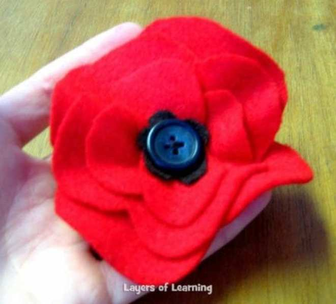 Veterans Day Poppy Craft Layers Of Learning