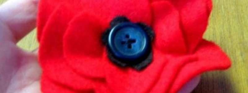 Veterans Day Poppy Craft