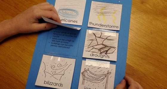 Wild Weather Notebooking Page