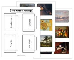 Four Kinds of Paintings Printable