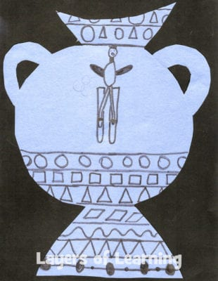 Kids can make their own Grecian urns as they learn about ancient Greek history and art.
