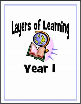 Printable notebook covers for Layers of Learning
