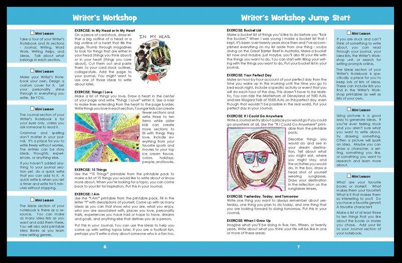 Writer's Workshop Jump Start sample pages