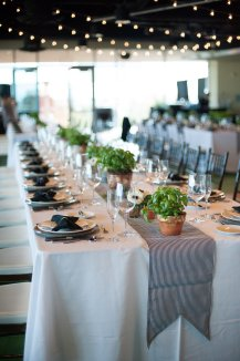 Herb and anemones centerpieces