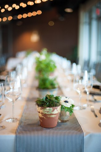 Potted herb centerpiece