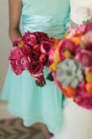 Bridal bouquet with succulents