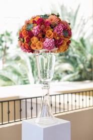 Bright floral arrangements