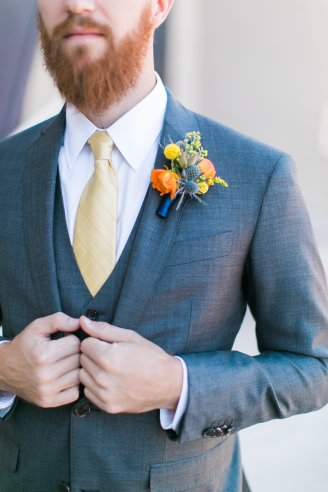 September wedding in Las Vegas by Layers of Lovely Floral Design, J. Anne Photography and Weddings and Events by Emily. Colorful wedding flowers