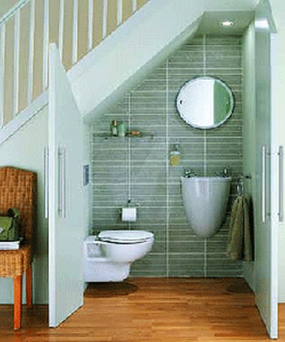 73 Artistic Bathroom Remodel Ideas Small Space Under Stairs Design | Small Stairs For Small Spaces | Design | Small Apartment | Small Living Area | Compact | Tiny House