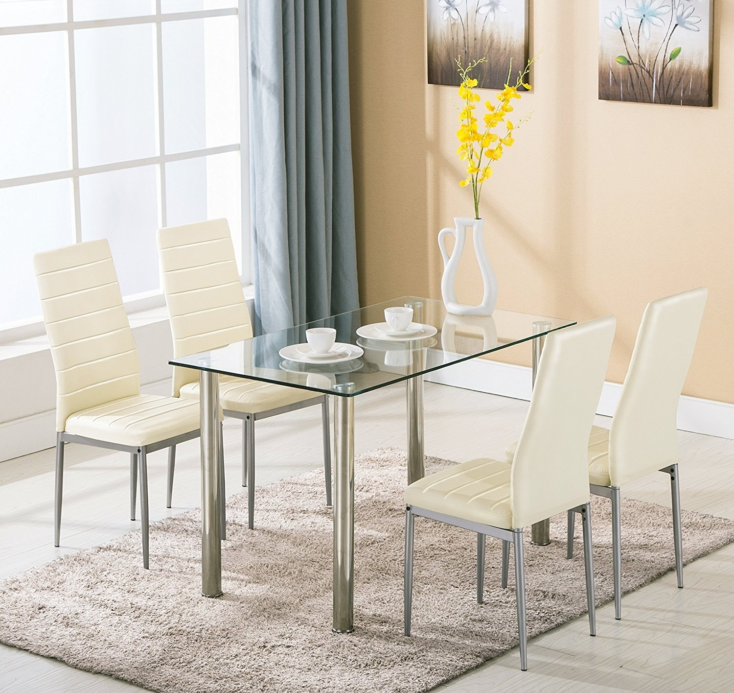 dining room table set glass dining table and chairs on dining room sets on clearance id=48451