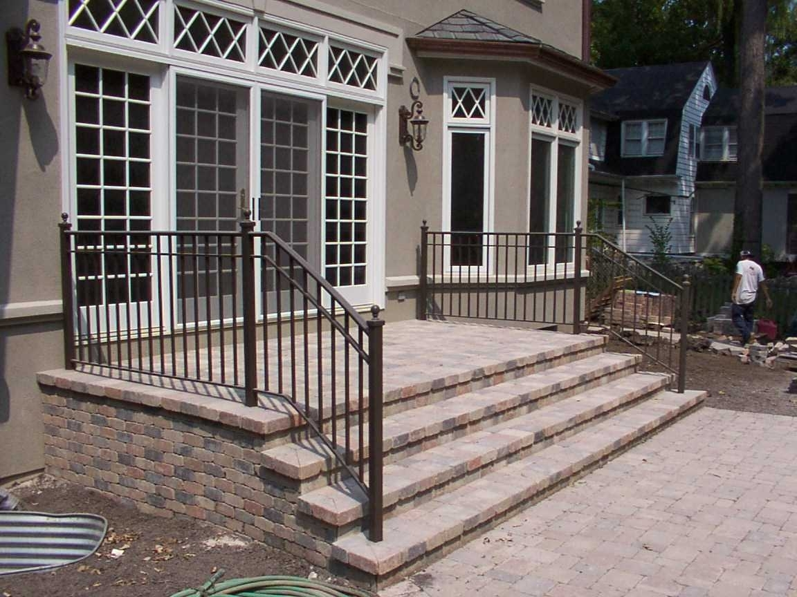 Wrought Iron Deck Railing Designs Ideas Railings Home 2018 And   Wrought Iron Balusters Home Depot   Silver Vein   Oil Rubbed Bronze   Solid Wrought   Baluster Railing   Tuscan Round