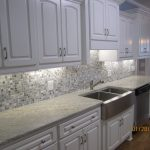 Steel Gray Granite With White Cabinets Layjao