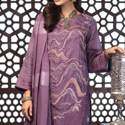 Salitex Jacquard Embroidered Unstitched 3 Piece Suit ST19-299