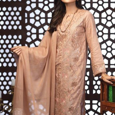 Salitex Jacquard Embroidered Unstitched 3 Piece Suit ST19-300