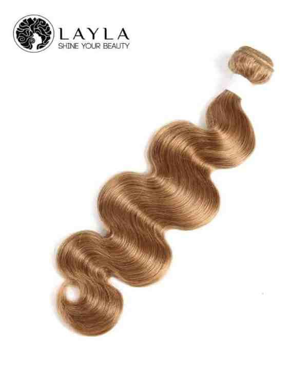 """Blond Wavy hair double drawn machine weft hair 24"""""""