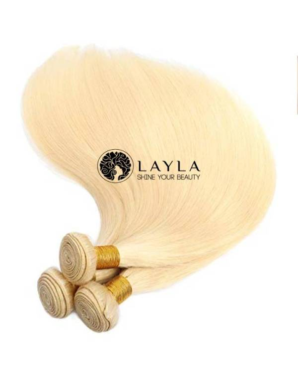 Double drawn remy blonde hair extensions #60