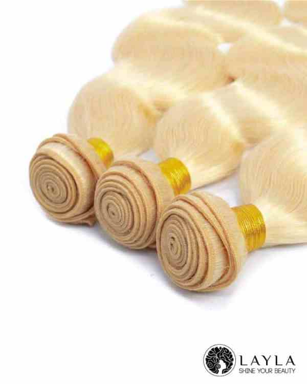 Cambodian Single drawn weft blonde hair color 60