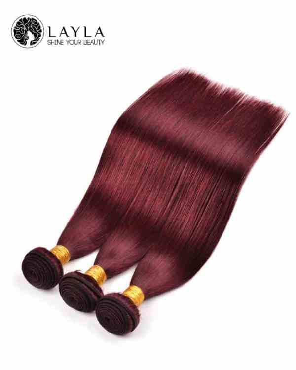 """Double drawn weft straight color hair extension 34"""""""