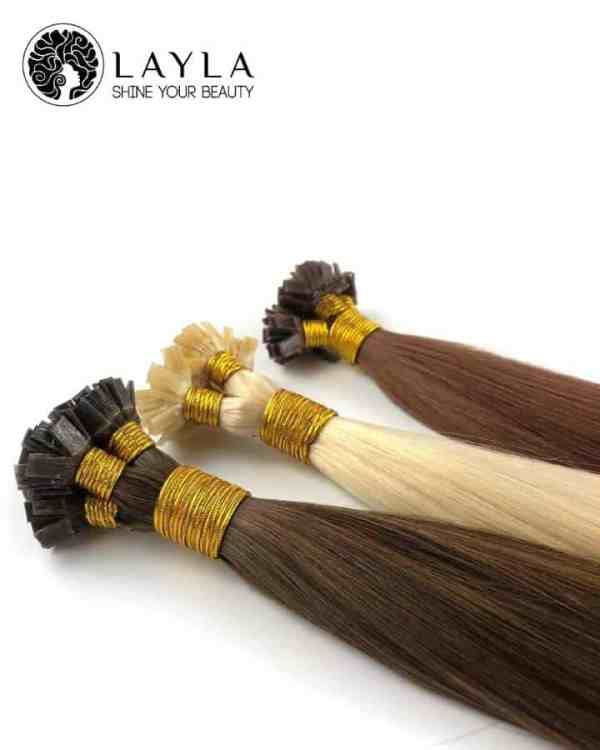"""Flat tip color straight human hair 26"""""""